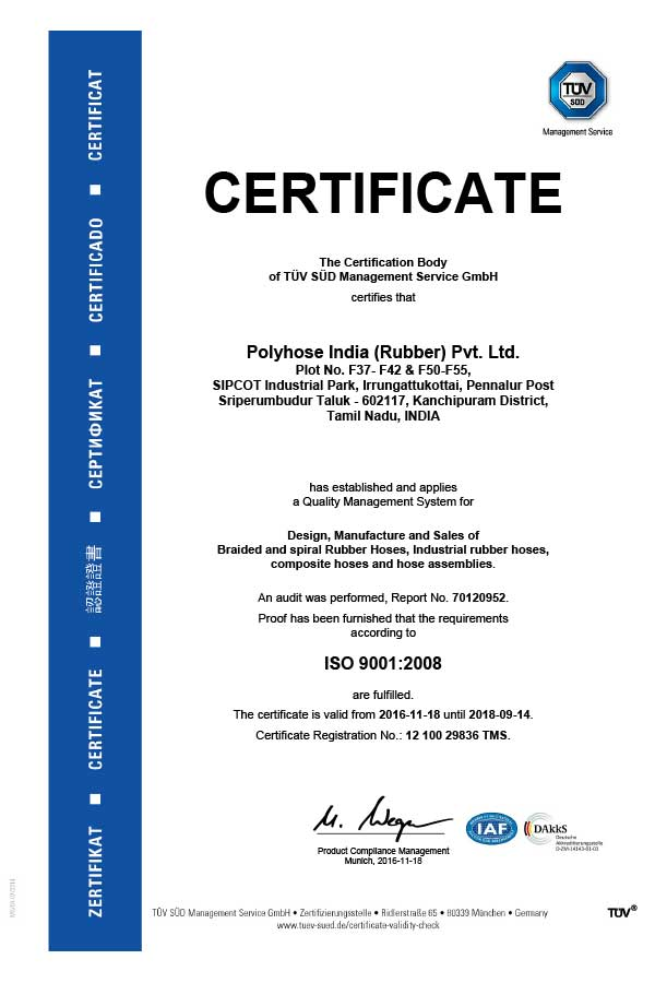 Polyhose ISO 9001:2008